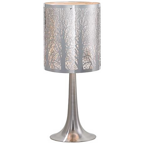 Possini Euro Design Laser-Cut Chrome Table Lamp