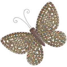 Pressed Bottle Cap Butterfly Wall Art