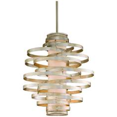 Corbett Vertigo Collection 3-Light Silver Pendant Chandelier