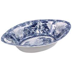 Blue and White Porcelain Vegetable Bowl
