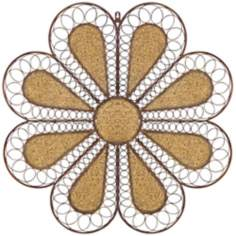 "Metal Flower 31 1/4"" Wide Wall Decor"