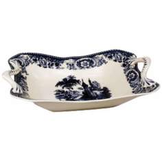 "Blue and White Porcelain 14"" Bowl"