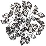 "Distressed Bronze Leaves 27 1/2"" Wide Metal Wall Decor"