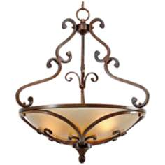 "Loretto Collection Russet Bronze 23 1/4"" Wide Pendant Light"