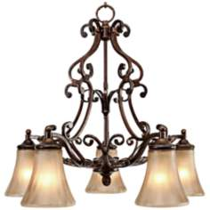 "Loretto Collection Russet Bronze 26 1/2"" Wide Chandelier"