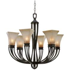 "Origins Collection Roan Timber 30"" Wide Chandelier"