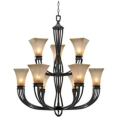 "Origins Collection Roan Timber 36"" Wide Chandelier"