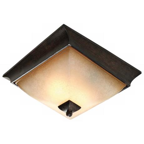 "Origins Collection Roan Timber 12 3/4"" Wide Ceiling Light"