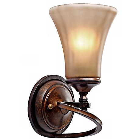 "Loretto Collection Russet Bronze 11 1/4"" High Wall Sconce"
