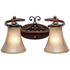 "Loretto Collection 15 1/2"" Wide Bathroom Wall Light"