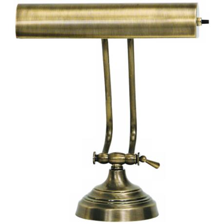 House of Troy Advent Twin Arm Antique Brass Piano Desk Lamp