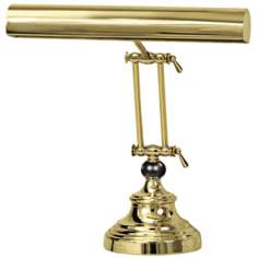 House of Troy Polished Brass Black Marble Piano Desk Lamp