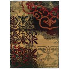 Bexley Collection Fleur Collage Area Rug