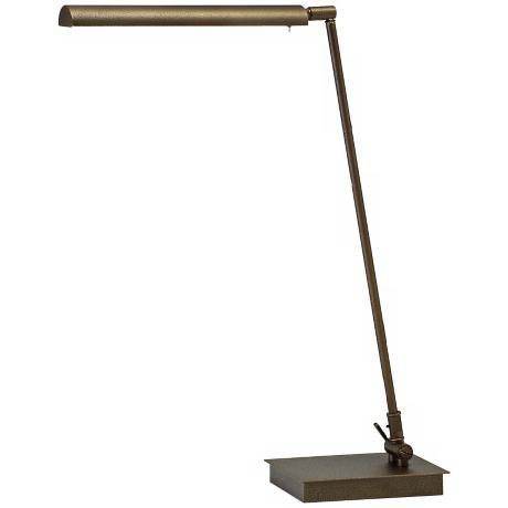 "Generation 22"" High Hammered Bronze LED Piano Lamp"