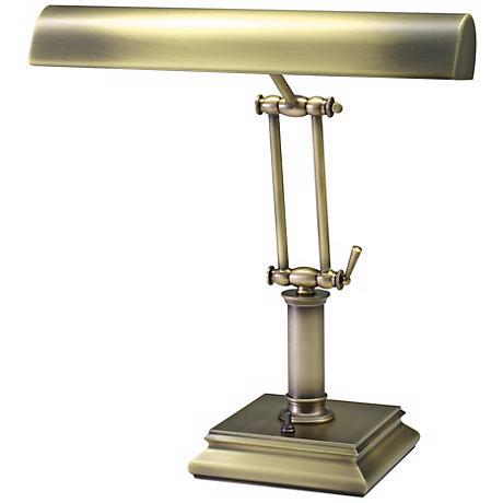 "House of Troy 14"" High Brass Twin Arm Piano Desk Lamp"
