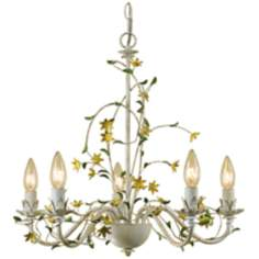 "Star Flower Hand-Crafted 20"" Wide Chandelier"