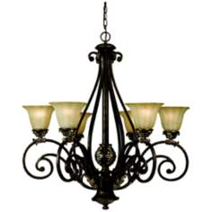 "Katherine Cognac Finish 31"" Wide Chandelier"