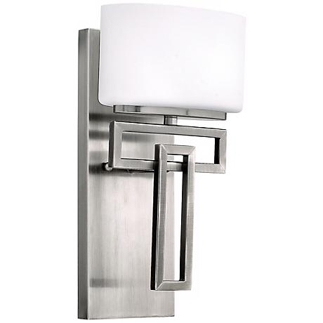 "Hinkley Lanza Antique Nickel 12"" High Wall Sconce"