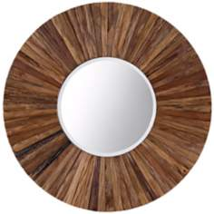 "Greenbriar Hardwood 35"" Round Wall Mirror"