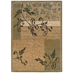 Bexley Collection Bergstrom Gold Green Area Rug