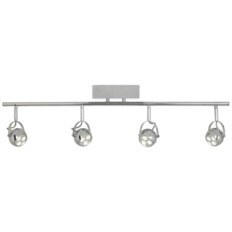 Chrome Round Back LED Adjustable Ceiling Fixture