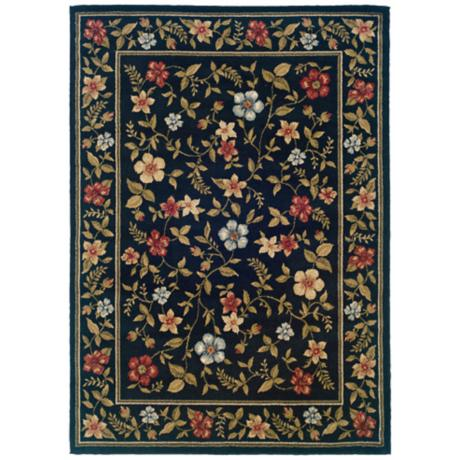 Bexley Collection Merrifield Navy Area Rug
