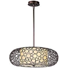 "Maxim Meridian 25"" Wide Umber Bronze Pendant Light"
