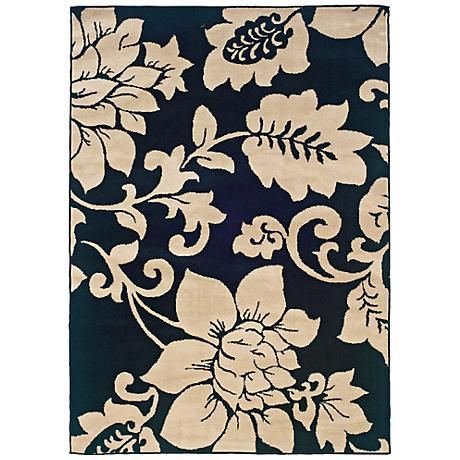Bexley Collection Grand Floral Area Rug