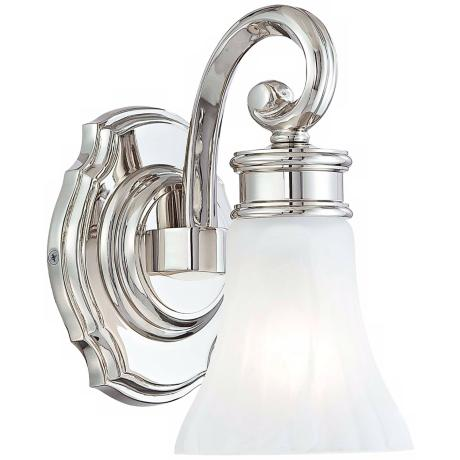 "Metropolitan Bath Collection Fluted 9 1/4"" High Wall Sconce"