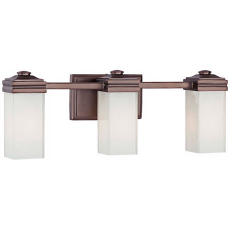 "Metropolitan Bath Collection Bronze 21"" Wide Bath Light"