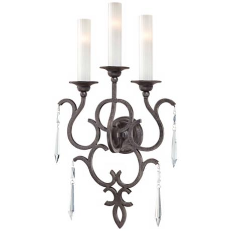 "Metropolitan Sconce Collection Iron17"" Wide Wall Sconce"