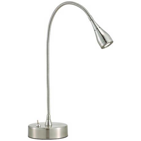 Medina Satin Steel LED Desk Lamp