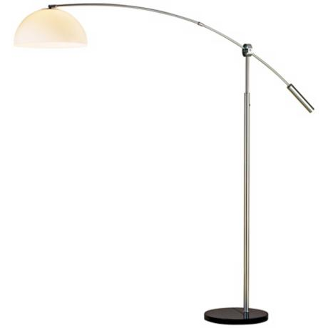Bogie Satin Steel Arc Floor Lamp