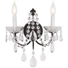 2-Light Madison Bronze Legacy Crystal Wall Sconce