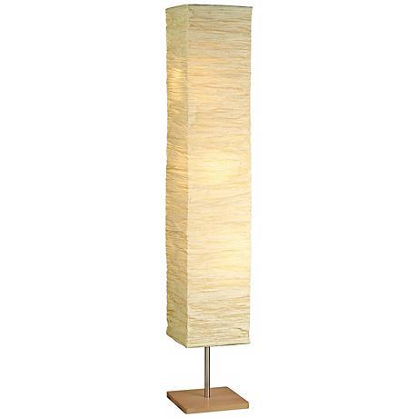 Crinkle Paper Square Floor Lamp