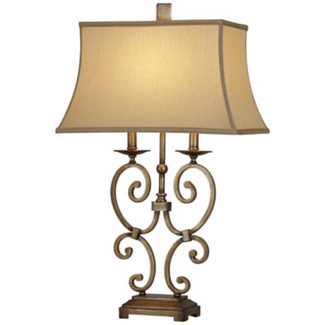 Raschella Bronze Scroll Table Lamp