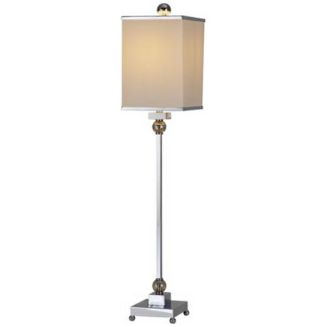 Raschella Chrome-Crystal Buffet Table Lamp