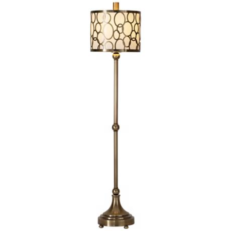 Raschella Coffee Bronze Metal Buffet Table Lamp