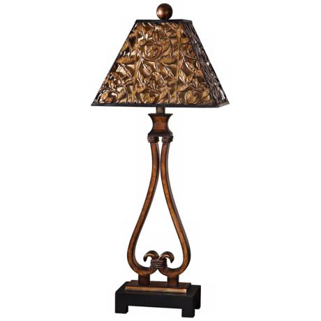Uttermost Bracciano Antiqued Golden Bronze Table Lamp