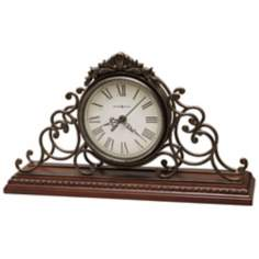 "Howard Millier Adelaide 15 1/2"" Wide Tabletop Clock"