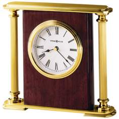"Howard Miller Rosewood Encore 7"" Wide Tabletop Clock"