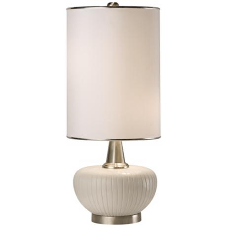 Thumprints Blanco Satin White Table Lamp