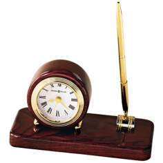 "Howard Miller Roland 6 3/4"" Wide Desk Clock & Pen Set"