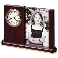 "Howard Miller Portrait Caddy 8"" Wide Desktop Clock"