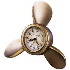 "Howard Miller Propeller 9"" Wide Alarm Clock"