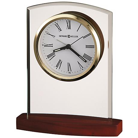 "Howard Miller Marcus 6 3/4"" High Tabletop Alarm Clock"