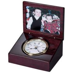 "Howard Miller Hayden Photo Frame 5 1/2"" Wide Table Clock"