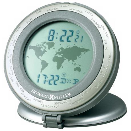 "Howard Miller World Travel 3 1/4"" High Alarm Clock"