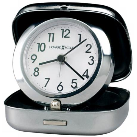"Howard Miller Clam Shell 2 3/4"" High Travel Alarm Clock"
