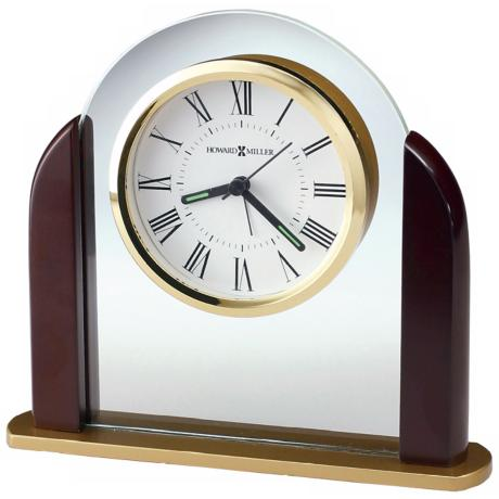 "Howard Miller Derrick 6 3/4"" Wide Alarm Clock"
